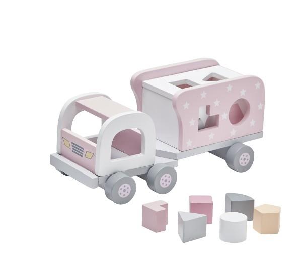 Kid's Concept Steckspiel Lastwagen Pastell Rosa