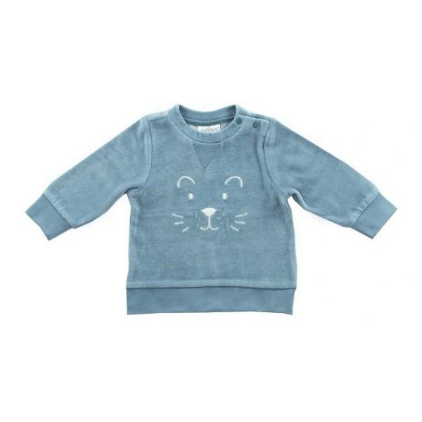 Jollein Pullover 74/80 Velour Blau