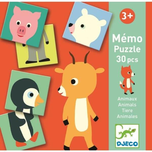 Djeco Lernspiel Memo Animo-Puzzle 1