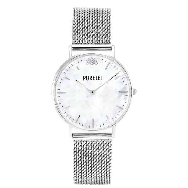 PURELEI Uhr Pearl Silver Mesh