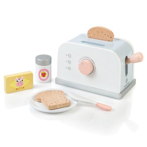 MUSTERKIND® Toaster-Set Olea Weiß/Graublau
