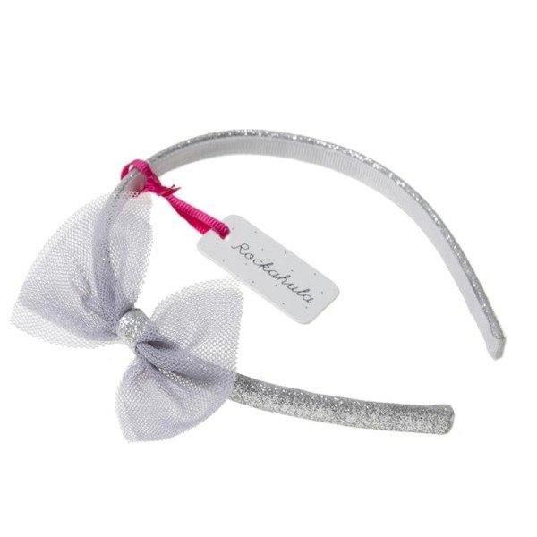 Rockahula Haarreif Tulle Bow Silber/Grau