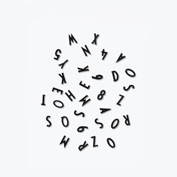 Design Letters Buchstaben-Set für Message Board Schwarz