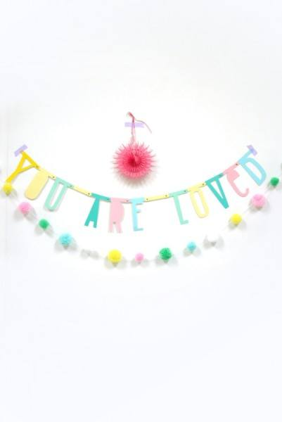 A Little Lovely Company Letter Banner Pastell