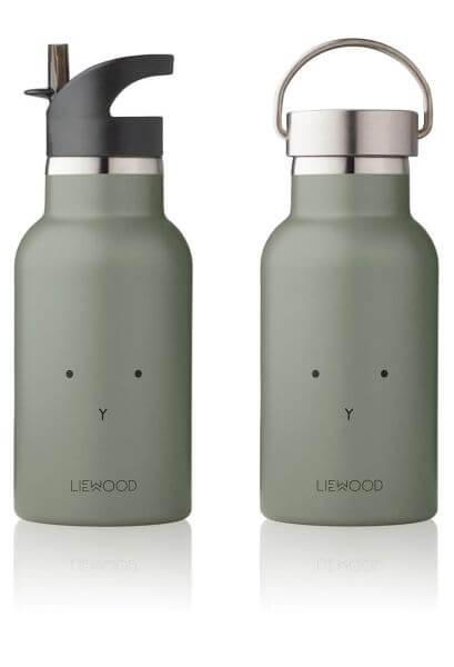 Liewood Trinkflasche für Kinder Hase Dunkelgrün_LW12357