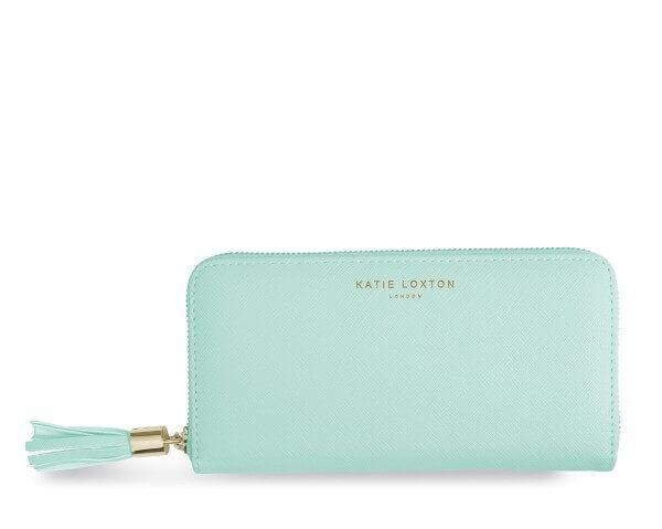 Katie Loxton Geldbörse mit Quaste MINT 10x20x2.5 cm
