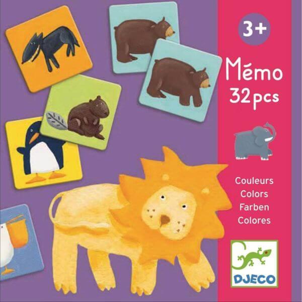 Djeco Lernspiel Memo Bunte Tiere 1