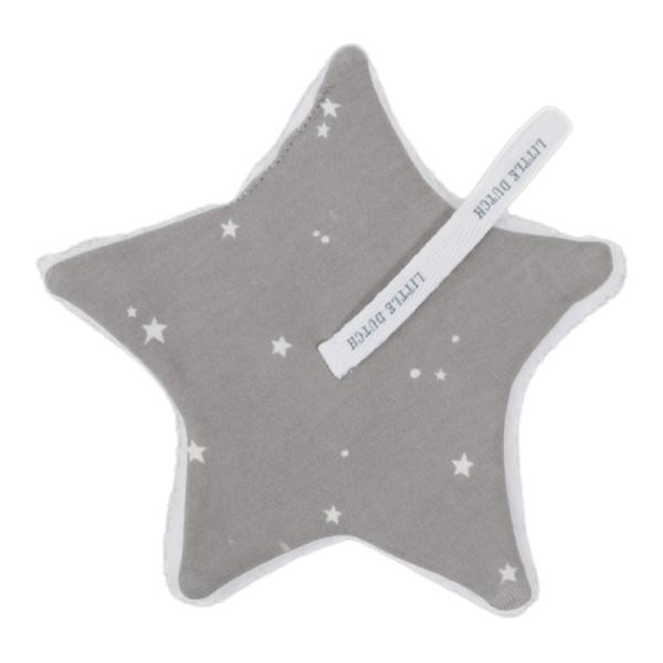 Little Dutch Schnullertuch Little Stars Grey