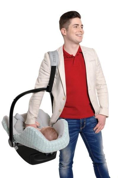 Cocobelt Tragegurt für Babyschalen Grau/Schwarz