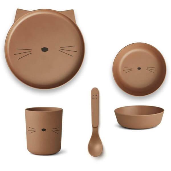 Liewood Geschirr-Set Katze Braun_LW12393
