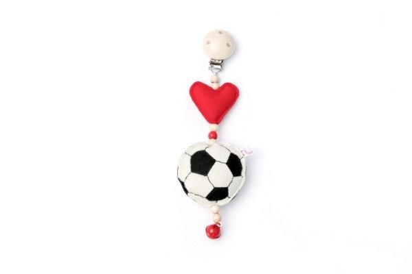 Deine Sommerliebe Anhänger Fußball Rot