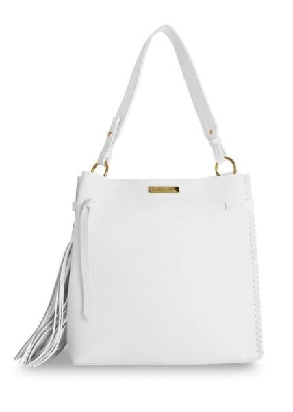 """Katie Loxton Handtasche mit Quaste """"Florrie Day Bag"""" WEISS 30,5x30x13 cm"""
