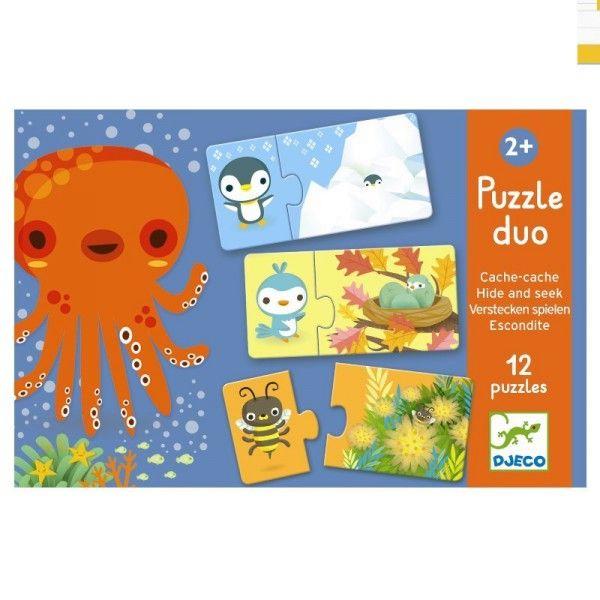 Djeco Lernpuzzle Verstecken spielen