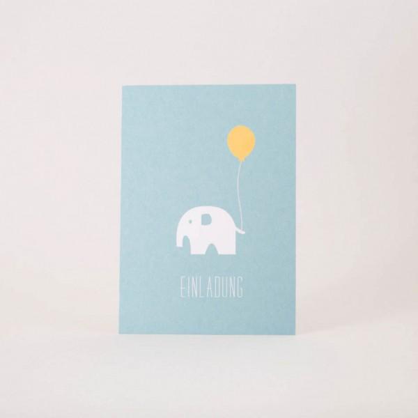 Papier Ahoi Postkarte / Einladungskarte Elefant