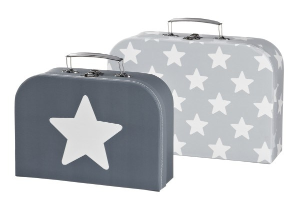 Kid's Concept Koffer 2er- Set Star Grau