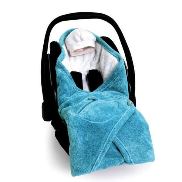 babyboum Decke für Babyschale Softy Blau