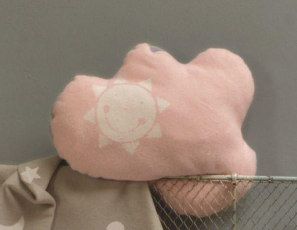 David Fussenegger Kinderkissen Wolke rosa 38x43 cm