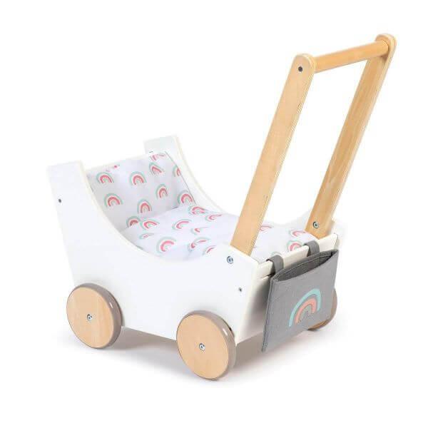 MUSTERKIND® Puppenwagen Barlia weiß/natur_MK512