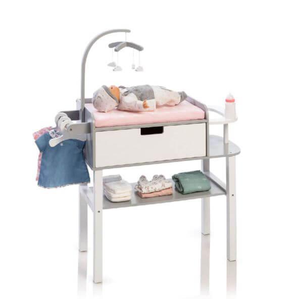 MUSTERKIND® Puppen-Wickelkommode Barlia grau/weiß_507