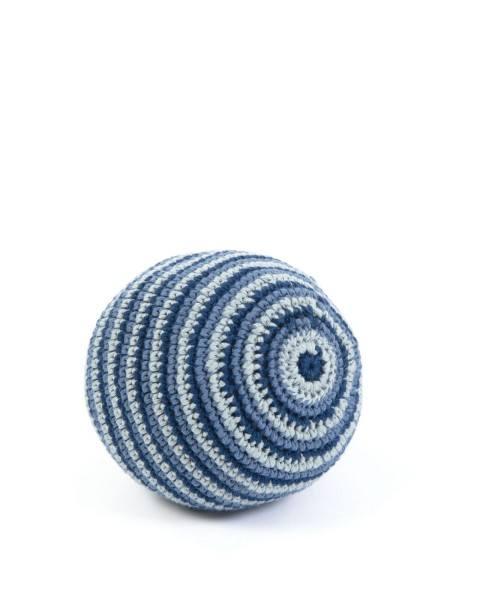 Smallstuff Rasselall gehäkelt Blau