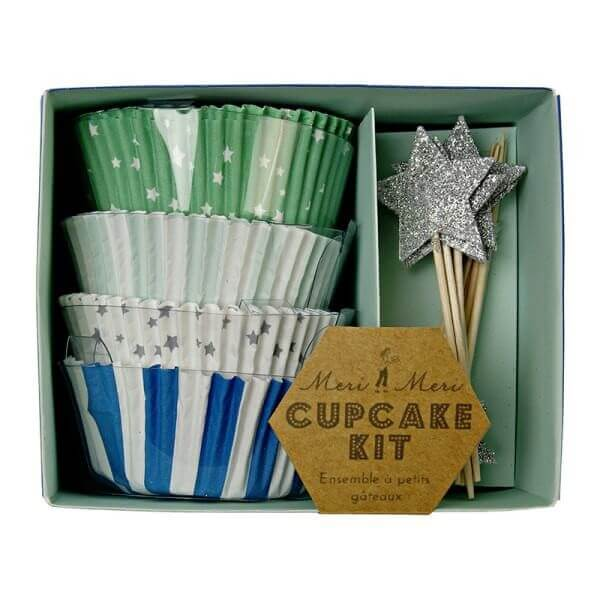 Blue Stars Muffin Kit, Meri Meri