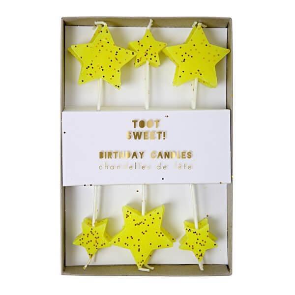Meri Meri Geburtstagskerzen Toot Sweet Sterne
