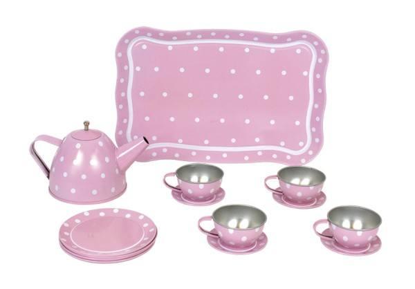 JaBaDaBaDo Tee-Set aus Blech mit Koffer Pink
