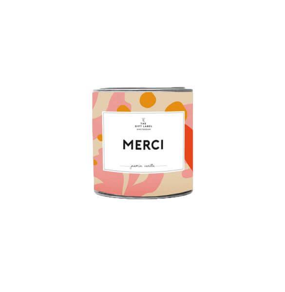 "The Gift Label Duftkerze klein ""Merci"""