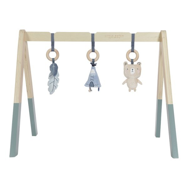 Little Dutch Babygym aus Holz Adventure Blue