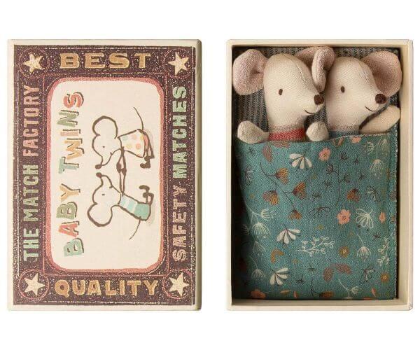Maileg Baby Mäuse Zwillinge in Box