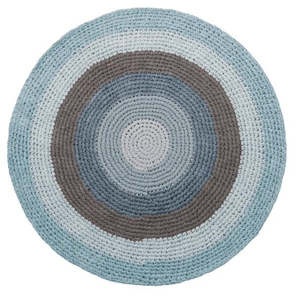 Sebra Häkelteppich wolkenblau