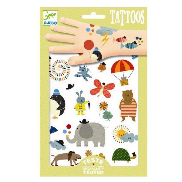 Djeco Kinder Tattoos Tiere & hübsche kleine Sachen