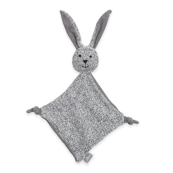 Jollein Schmusetuch Hase stonewashed knit Grau