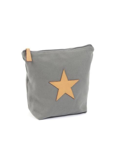 Smallstuff Kulturtasche mit Stern Grau groß