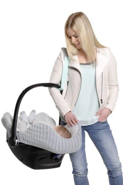 Cocobelt Tragegurt für Babyschalen Grau/Mint