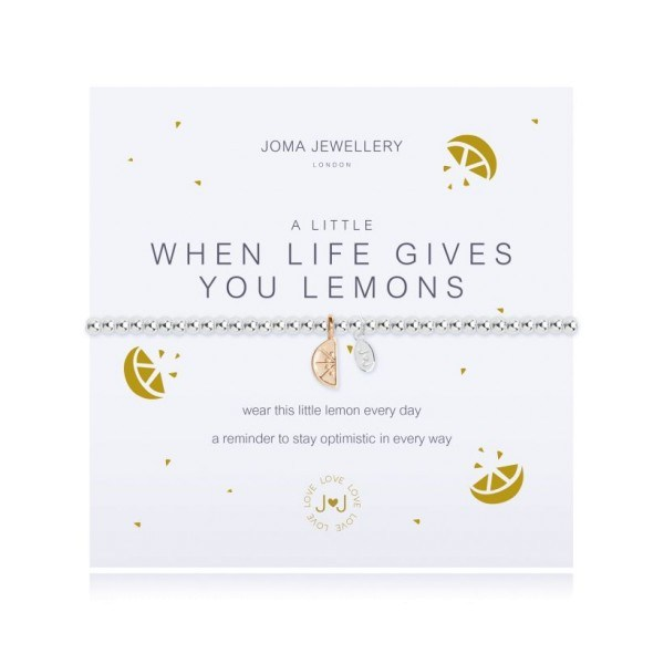 "Joma Jewellery Armband ""When life gives you lemons"""