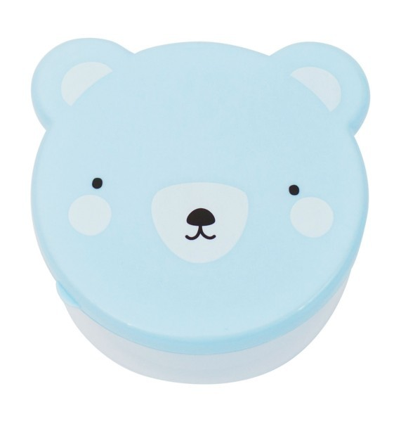 A Little Lovely Company Snackbox 4er-Set Bär blau