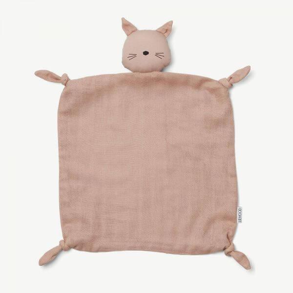 Liewood Schmusetuch Agnete Katze Rosa