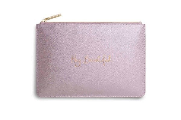 "Katie Loxton Clutch ""Hey Beautiful"" PINK-METALLIC 16 x 24 cm"