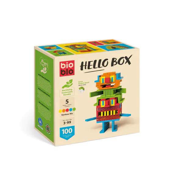 """bioblo HELLO BOX """"Rainbow-Mix"""" mit 100 Bausteinen"""