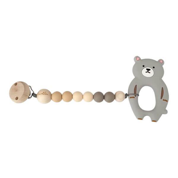 Leoetlea Beißkette Bär Grau