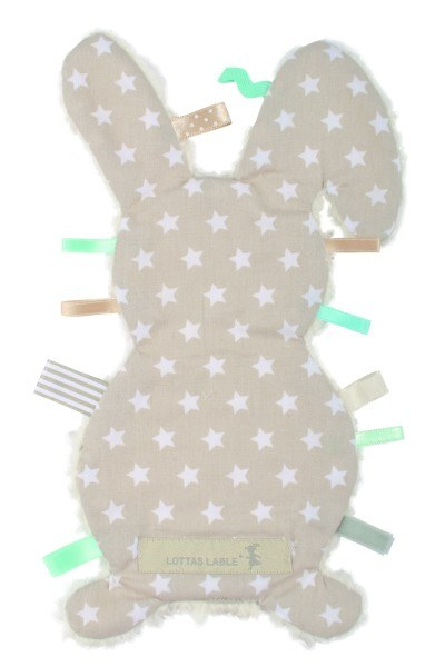 Lottas Lable Fühltuch Hase Stars Beige