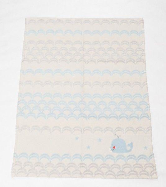 David Fussenegger Kinderdecke FINN Stick Wal weiß 65x90 cm