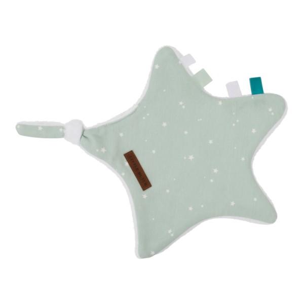 Little Dutch Kuscheltuch Stern Little Stars Mint
