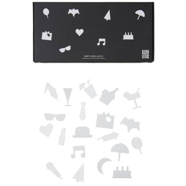 Design Letters Party-Symbole für Message Board Weiß