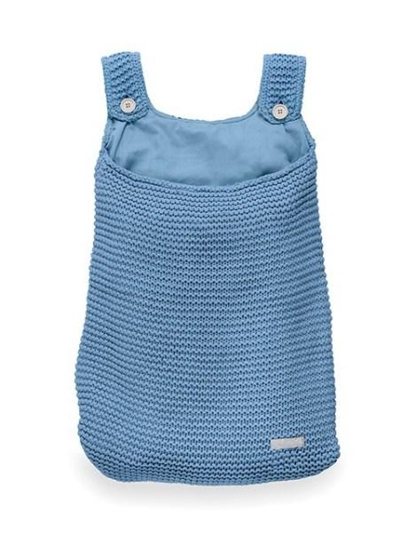 Jollein Aufbewahrungstasche Heavy knit Blau