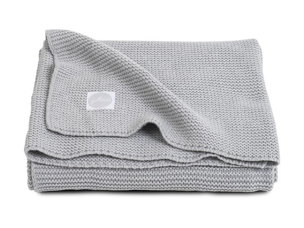 Jollein Decke basic knit Hellgrau 75x100cm