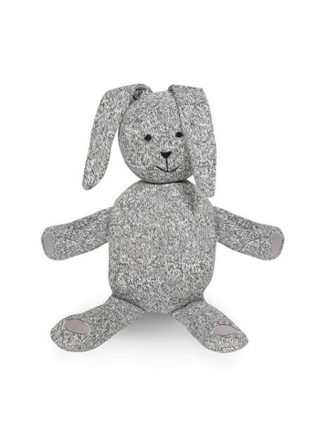 Jollein Schmusetier Hase stonewashed knit Grau