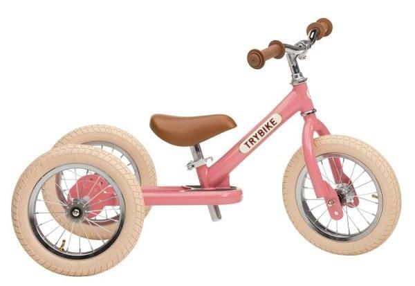 Trybike Laufrad Steel 2 in 1 Vintage Pink