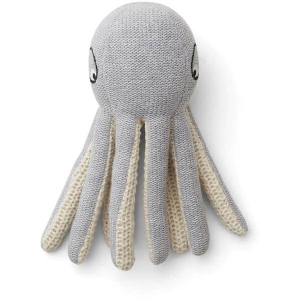 Liewood Rassel Ole knit Octopus grey melange